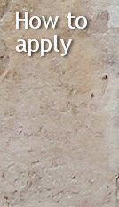 'How to apply' heading (weathered plaster)